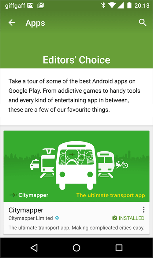 Proud To Receive Editors Choice From The Google Play